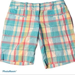 Tommy Hilfiger plaid flat front Bermuda shorts 4